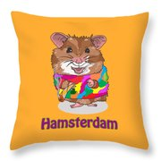 Funny Design Illustration Puns Hamsterdam The Wire Throw Pillow