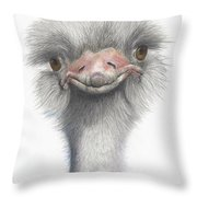 Funny Face Throw Pillow by Phyllis Howard