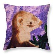 Funny Ferret Throw Pillow