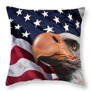 Funny Flag Throw Pillow