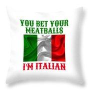 Funny Italian Flag Throw Pillow