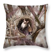 Funny Little Bird Throw Pillow