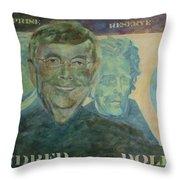 Funny Money Throw Pillow