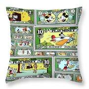 Funny Money Collage Throw Pillow