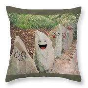 Funny Rocks Throw Pillow