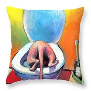 Funny Sphynx Cat Painting Prints Throw Pillow