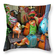 Funny Watering Cans Throw Pillow