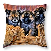 Fur Babies Throw Pillow