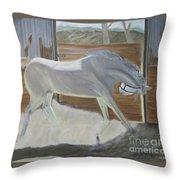 furious Horse Throw Pillow