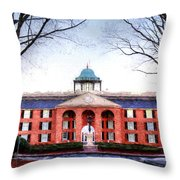 Furman University Judson Hall  Throw Pillow