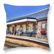 Furnace Sidings Railway Station 2 Throw Pillow