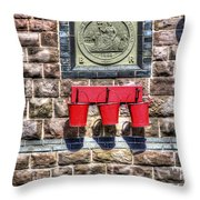 Furnace Sidings Railway Station 4 Throw Pillow