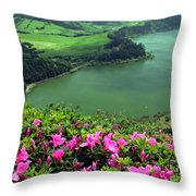 Furnas Lake Azores Throw Pillow