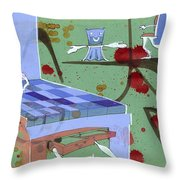 Furniture Gets Alive Throw Pillow