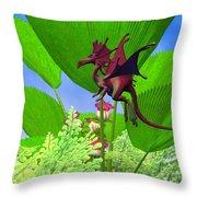 Fury Flying Dragon Throw Pillow