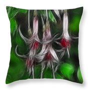 Fuschia 1 Fractal Throw Pillow by Lawrence Christopher