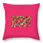 Fushia Fruit Throw Pillow