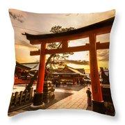 Fushimi Inari Taisha Shrine In Kyoto Throw Pillow