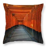 Fushimi Inari Taisha Shrine In Kyoto, Japan Throw Pillow