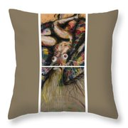 Fusion II - Diptych Throw Pillow