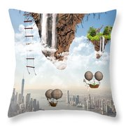 Future Idealism Throw Pillow by Solomon Barroa