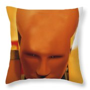 Future Man Throw Pillow