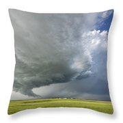 Future Tornado Throw Pillow