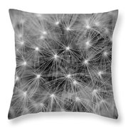 Fuzzy - Black And White Throw Pillow