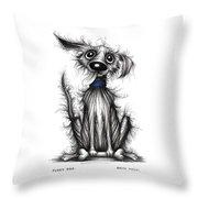 Fuzzy Dog Throw Pillow