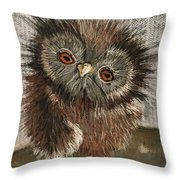 Fuzzy Owl Throw Pillow