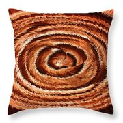 Fuzzy Rock Abstract Throw Pillow