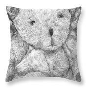 Fuzzy Wuzzy Bear  Throw Pillow