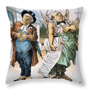 G. Cleveland Cartoon, 1892 Throw Pillow