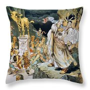 G. Cleveland Cartoon Throw Pillow