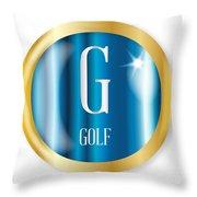 G For Golf Throw Pillow