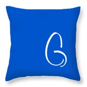G In White Simple Script Throw Pillow
