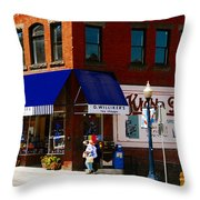 G Willikers Toy Shoppe Throw Pillow