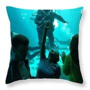 Ga Aquarium Scuba Throw Pillow