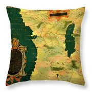 Gabon, Angola And Congo Throw Pillow