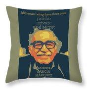 Gabriel Garcia Marquez Throw Pillow
