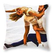 Gabriella Papadakis And Guillaume Cizeron Throw Pillow