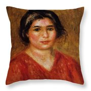 Gabrielle In A Red Blouse 1913 Throw Pillow