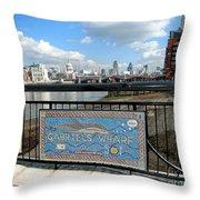 Gabriel's Wharf Throw Pillow