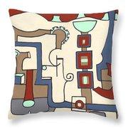 Gadgets Throw Pillow