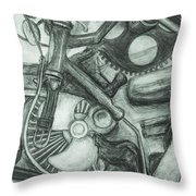 Gadgets Of Sorts Throw Pillow by Angelique Bowman