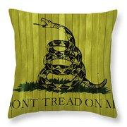 Gadsden Flag Barn Door Throw Pillow