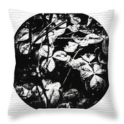 Gails Rain Drops On Clover Throw Pillow
