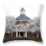 Gains Hall Throw Pillow