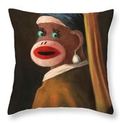 Gal With A Pearl Earring Throw Pillow
