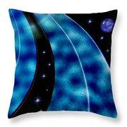 Galactic Autobahn Throw Pillow